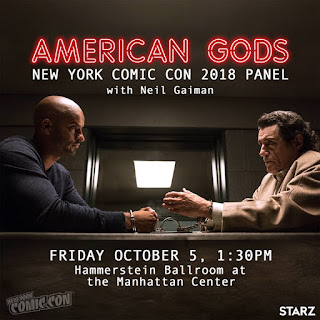 NYCC 2018 American Gods Panel with Neil Gaiman