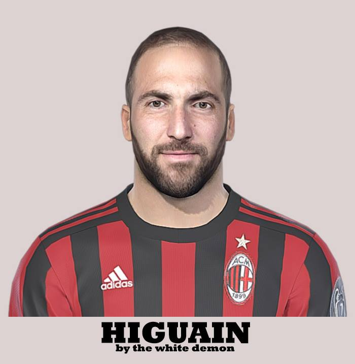 PES 2019 / PES 2018 Higuain Face By The White Demon
