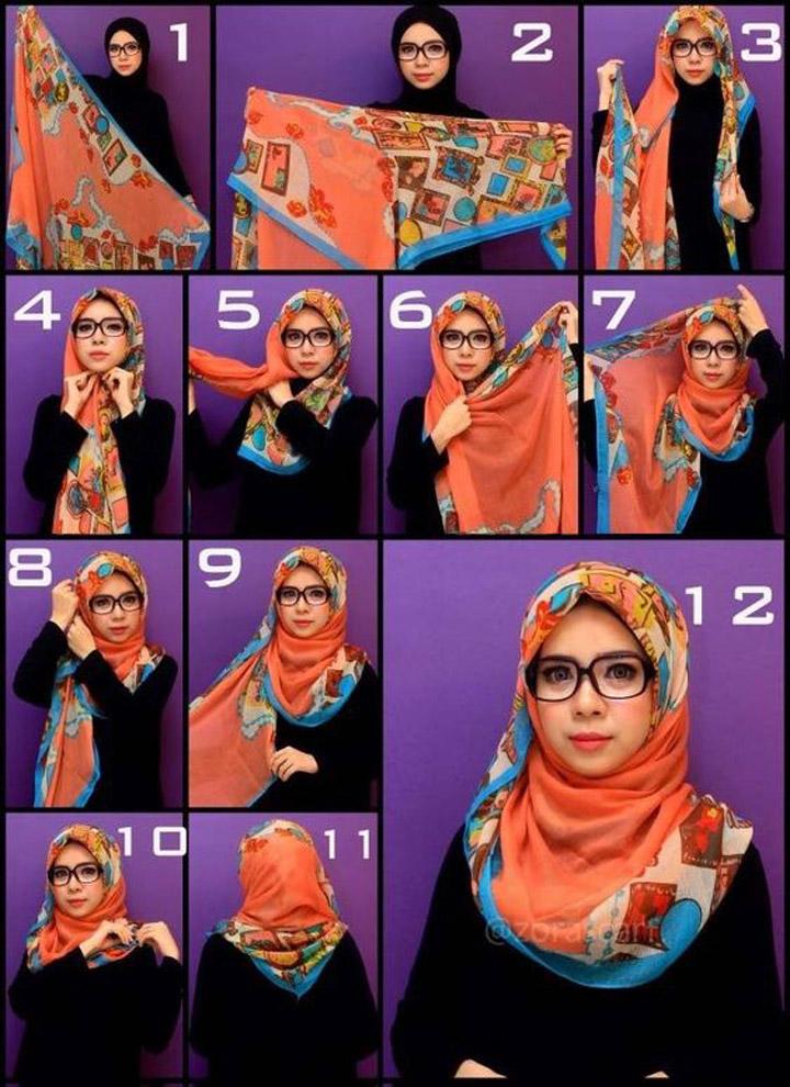 13 Gaya Pakai Tudung dan Shawl Wanita Hijab