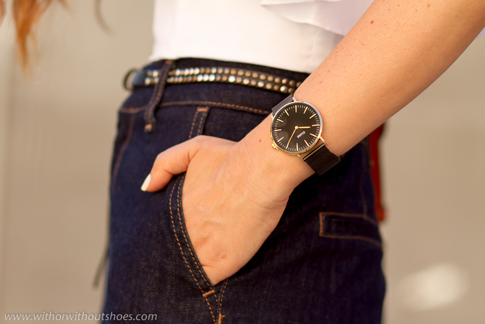 blogger de moda con los relojes de moda