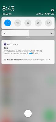 Bukti Pembayaran dari Google Adsense dengan Aplikasi OVO Android