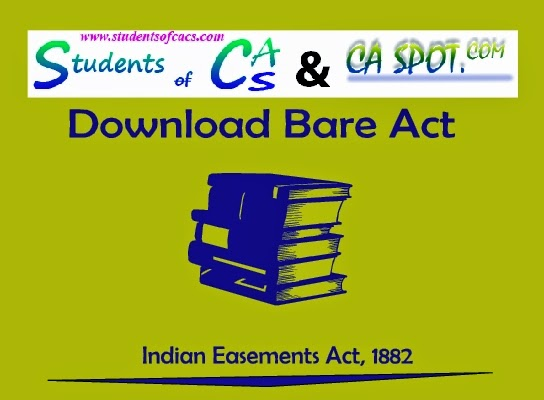 indian easement act 1882 pdf