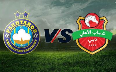مشاهدة مباراة شباب الاهلي دبي وباختاكور 20-9-2020 بث مباشر في دوري ابطال اسيا