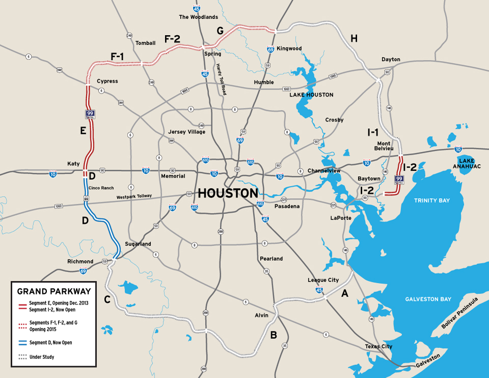 Map Of Houston Freeways  Indiana Map
