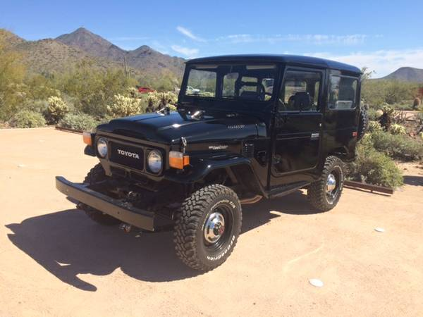 Black Car, 1979 Toyota FJ40 Land Cruiser