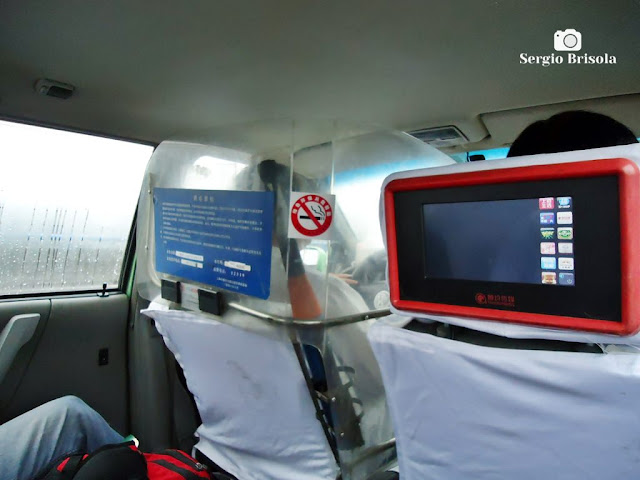 Inside a Taxi in Shaghai