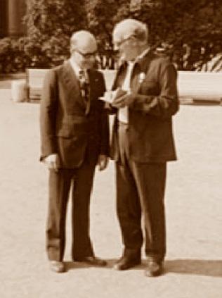 Bronstein y Gironella en 1973 en Leningrado