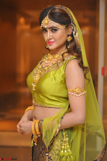 Sony Charishta in Green Choli Ghagra Transparent Chunni Ethnic Wear March 2017 010.JPG