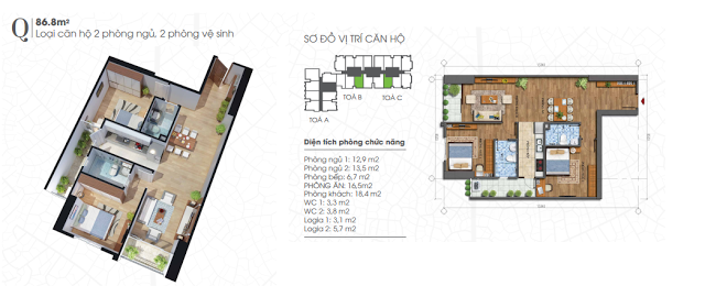 thiết kế căn hộ ecolife tây hồ