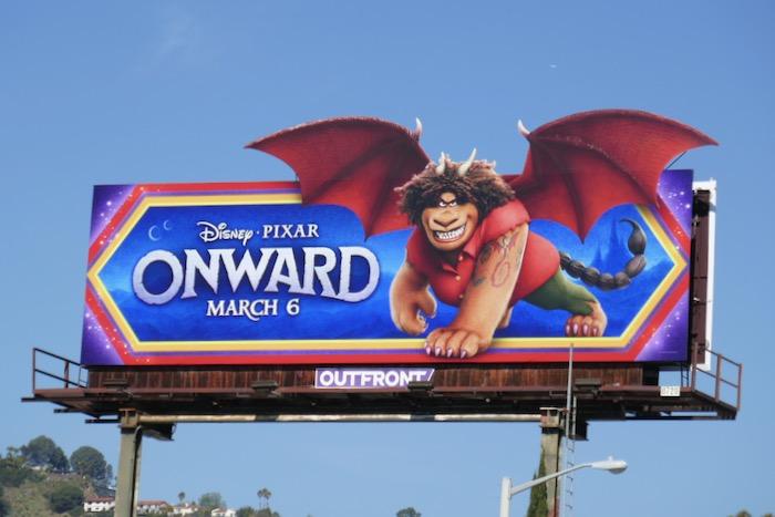 Onward movie billboard
