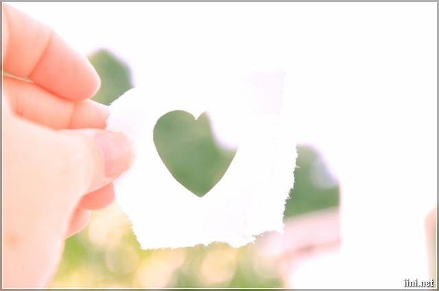 ảnh miếng giấy cắt hình trái tim dễ thương