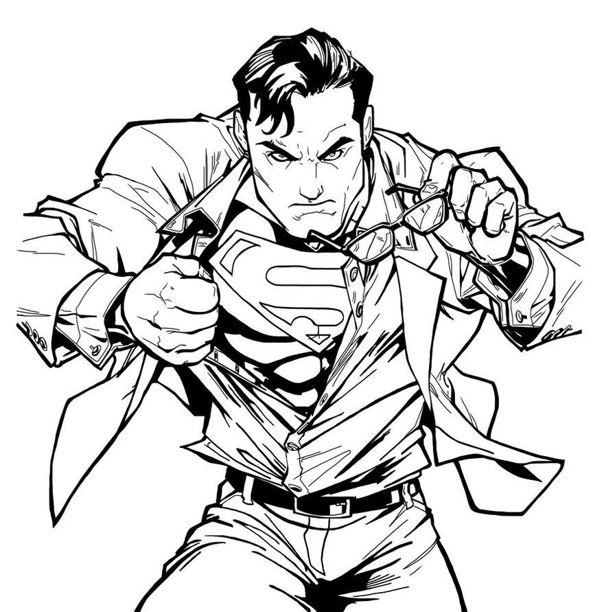 Superman Super Hero Coloring Pages Printable - Colorings.net