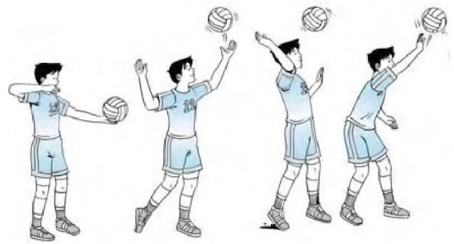 Servis atas bola voli