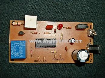 Alarma con aviso telefónico vista de componentes.