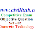 Concrete Technology Objective Question | Answer | Pdf - 02