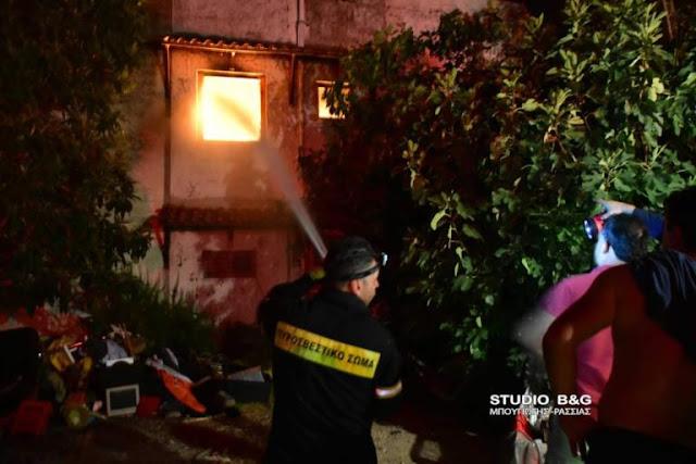 Πυρκαγιά σε μονοκατοικία στην Τροιζηνία