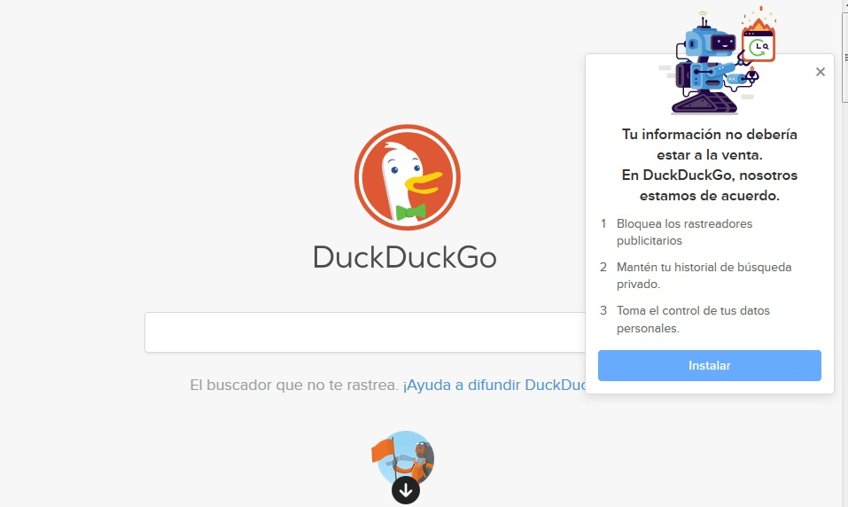 Secrets deep web: DuckDuckGo