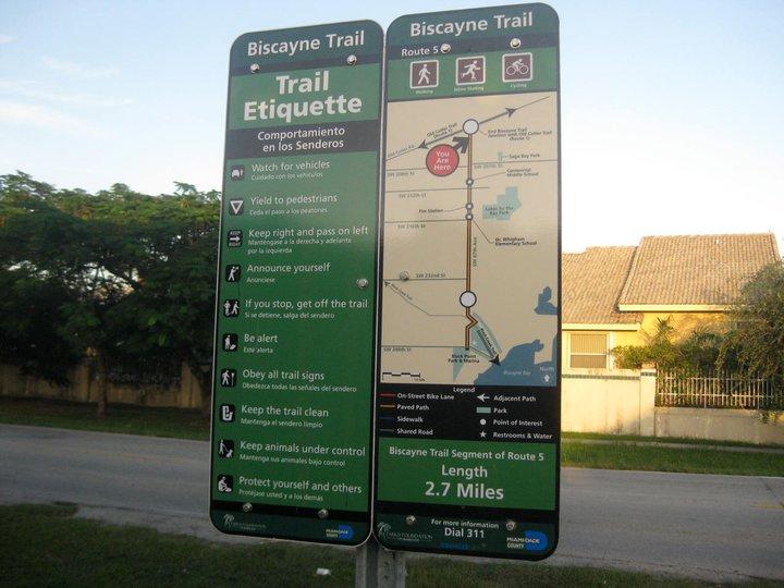 La River Bike Path Trail Map