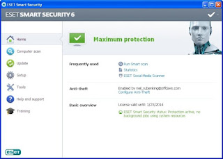 Download ESET Smart Security 6 with keys: