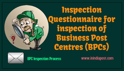 Inspection questionnaire for Business Post Centre (BPC)