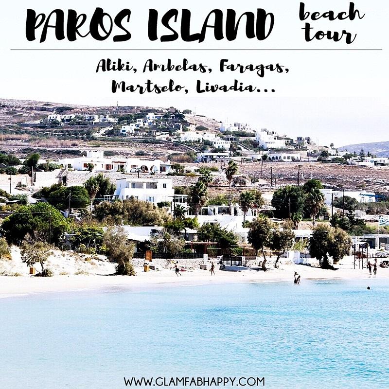PAROS island beach tour: Aliki, Piso Aliki, Martselo, Ambelas, Faragas, Livadia