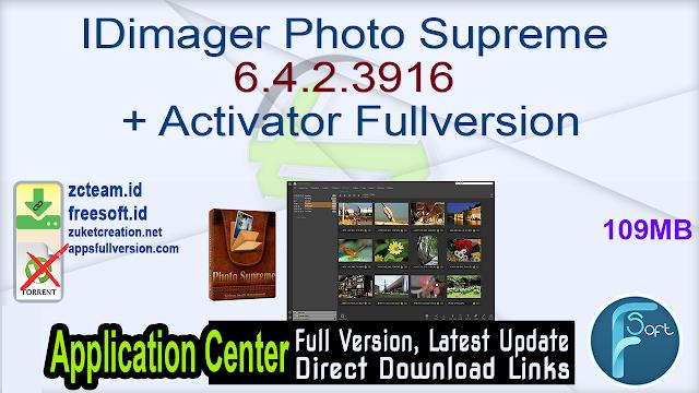 IDimager Photo Supreme 6.4.2.3916 + Activator Fullversion