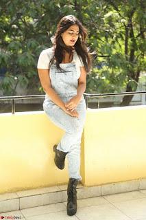 Neha Deshpande in Spicy Denim Jumpsuit and Whtie Crop Top March 2017 122.JPG