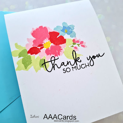 Altenew Watercolor wonders, One layer card, CAS card, Clean and simple cards, AAA Cards, Quillish, Layered stamping