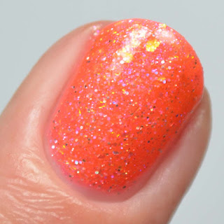 coral crelly nail polish