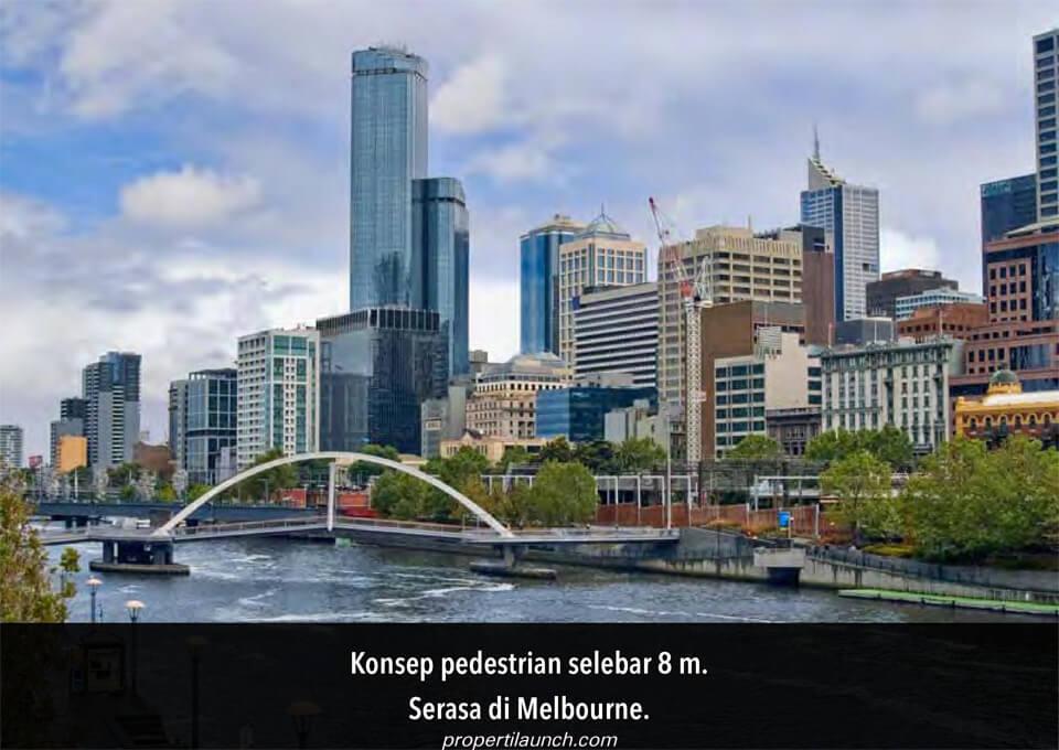 Konsep Pedestrian Melbourne City