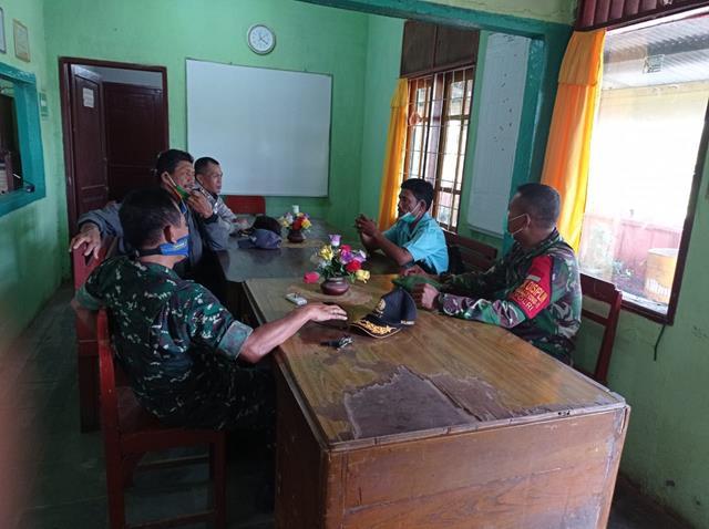 Terjun Langsung Kewilayah, Personel Jajaran Kodim 0207/Simalungun Laksanakan Monitoring Wilayah