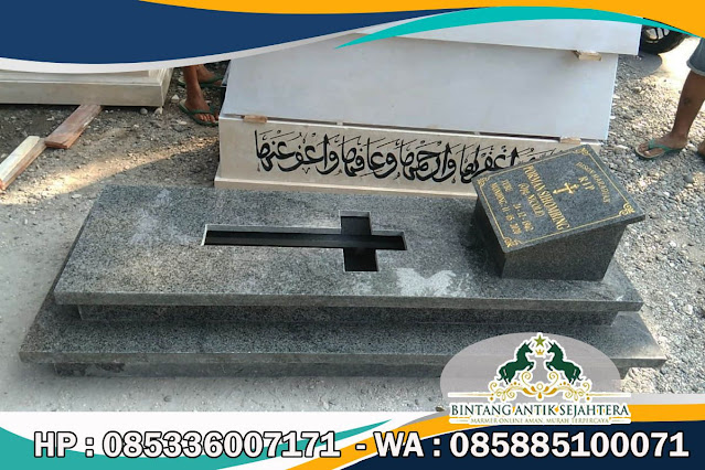 Model Kijing Katolik Marmer, Kijing Katolik Marmer Terbaru, Makam Katolik Semangkak Klaten