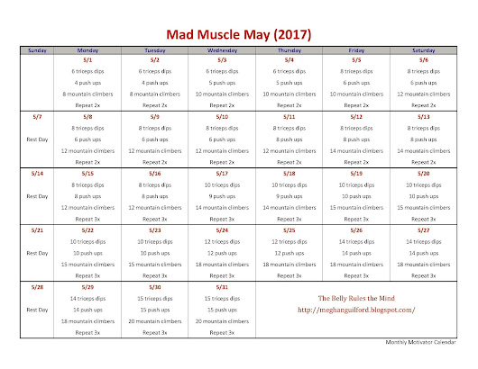 May Motivator - Monthly Workout Calendar