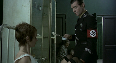 Dirk Bogarde and Charlotte Rampling in The Night Porter, Directed by Liliana Cavani