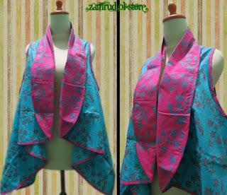 Model Baju Batik Kombinasi Bolero remaja