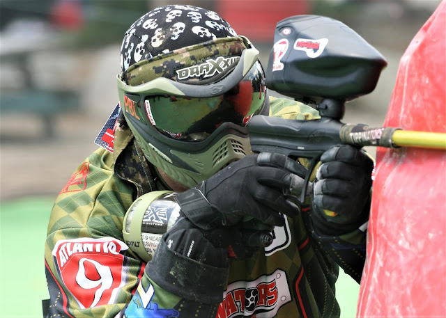Up Close Paintball Action