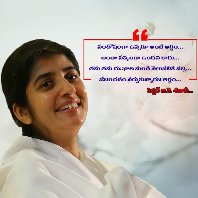 Happiness Quote in Telugu by BK Shivani
