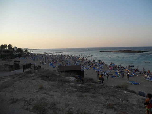 Cyprus Road Trip Itinerary: Fig Tree Bay at sunset