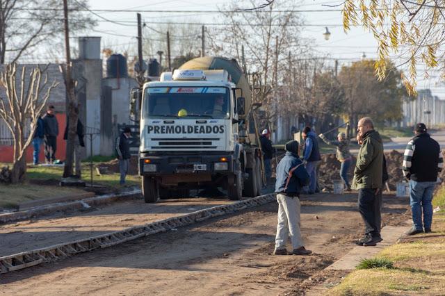 En marcha el final de la pavimentación total de calle Cané