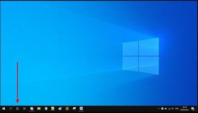 Gambar ilustrasi tampilan ikon cortana di windows 10