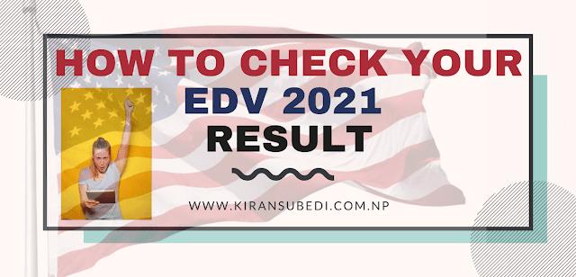 Electronic diversity visa result checking steps