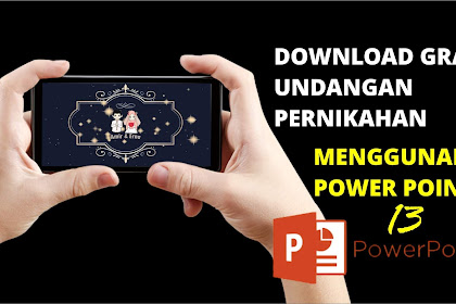 Free Template Power Point Undangan Pernikahan ke 13