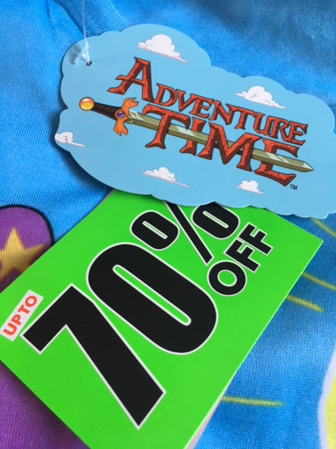 Adventure Time T-shirt from Sports Direct #sdfiverchallenge