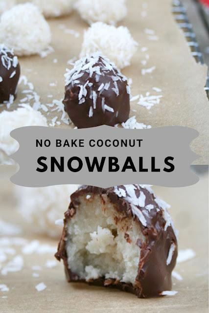 NO BAKE COCONUT SNOWBALLS #BAKE #SNOWBALL #COCONUT