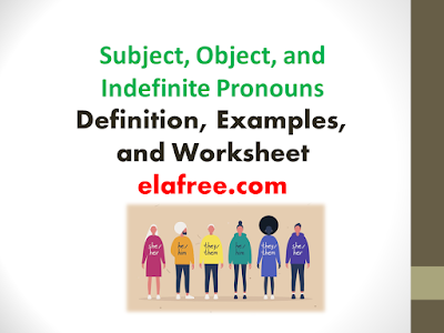 Subject, Object, and Indefinite Pronouns