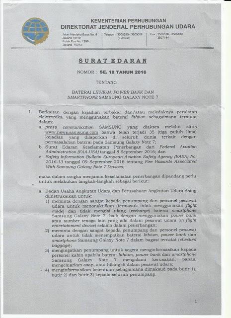 surat edaran dari kementerian perhubungan