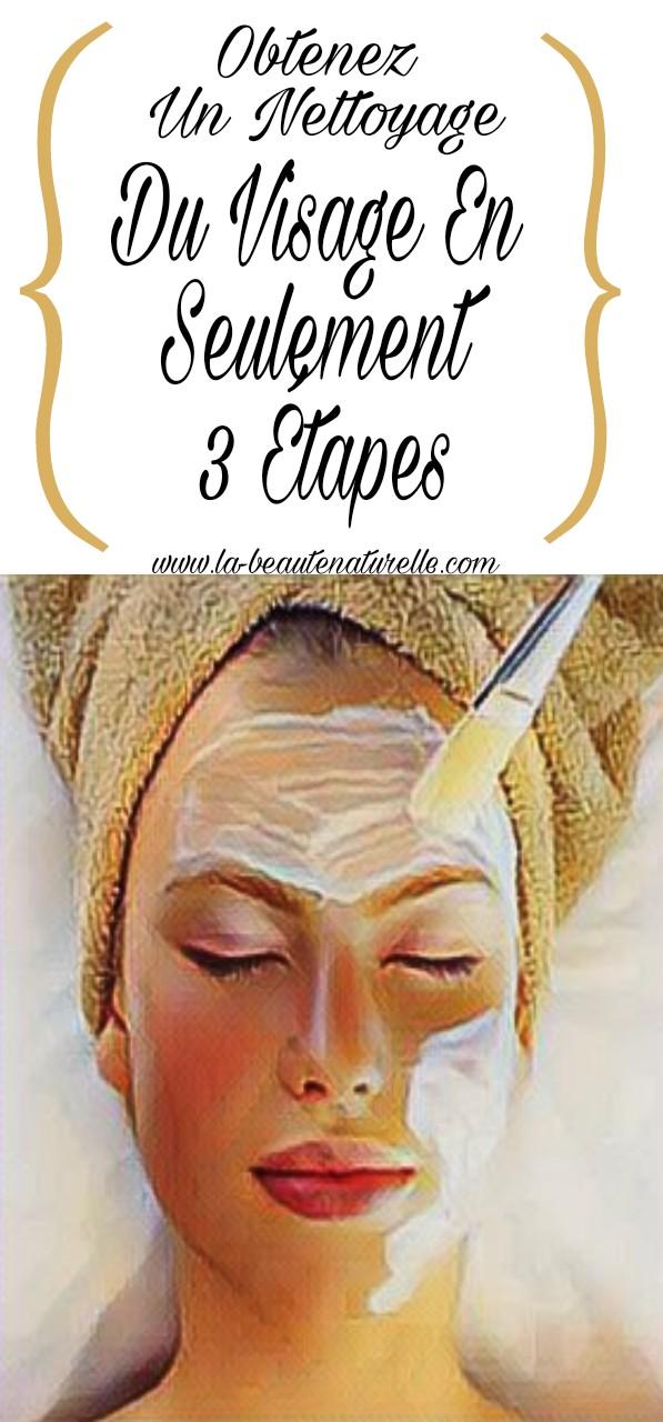 Obtenez un nettoyage du visage en seulement 3 étapes