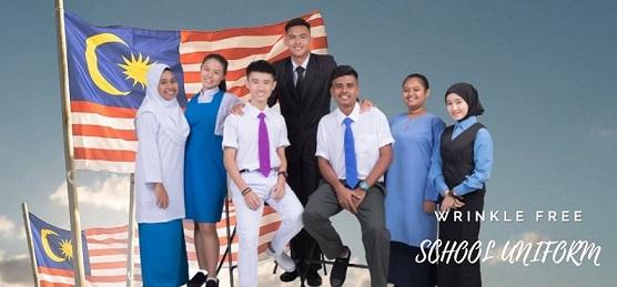 Wrinkle free school uniform