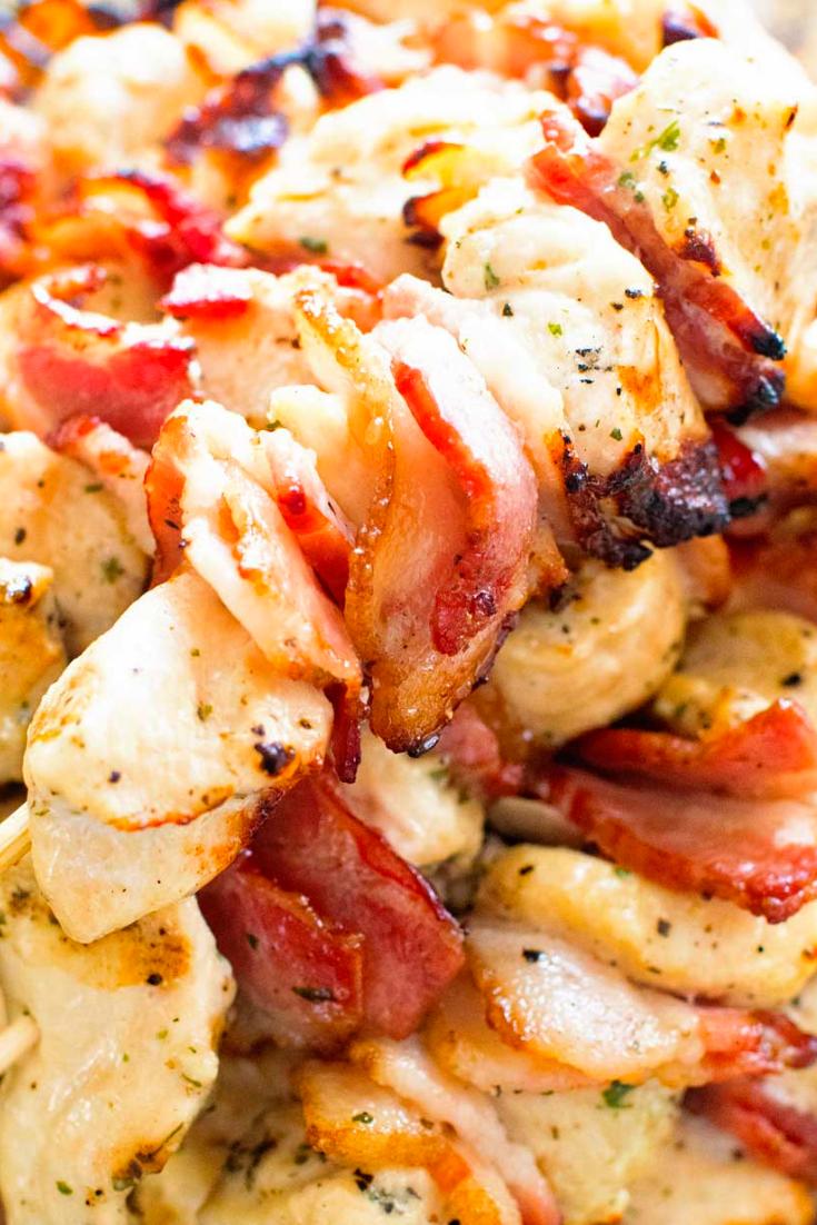 Bacon Ranch Chicken Kabobs Recipe