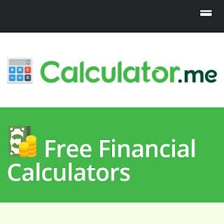 Calculator.me free financial calculators